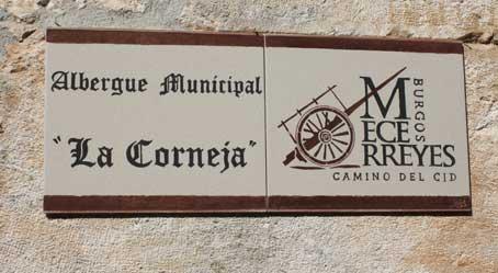 Placa albergue Mecerreyes