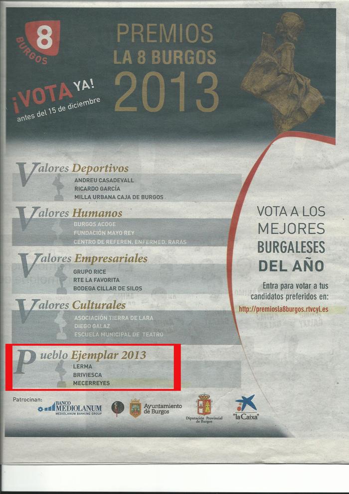 Pueblo ejemplar 2013 Mecerreyes