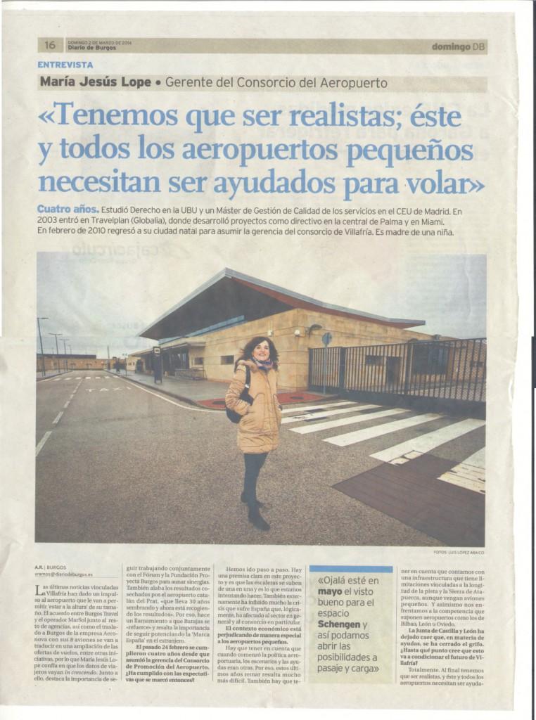 Entrevista a Maria Jesús Lope DBurgos 2-03-2014 a