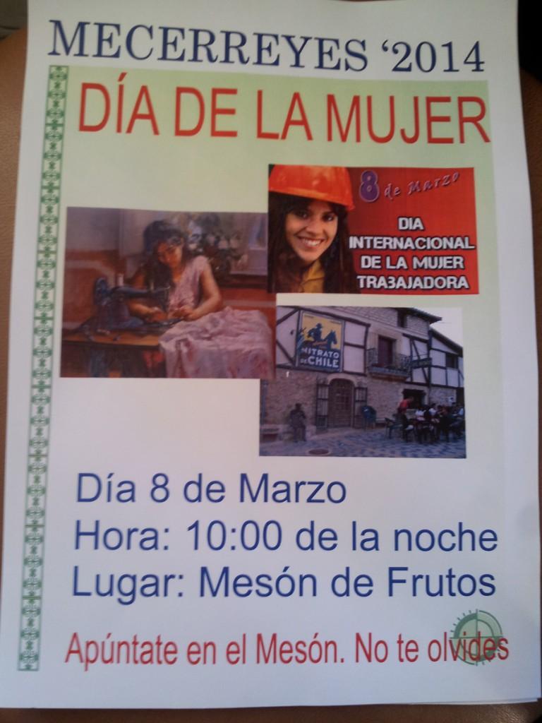 Mecerreyes, Cartel Mujer trabajadora 2014