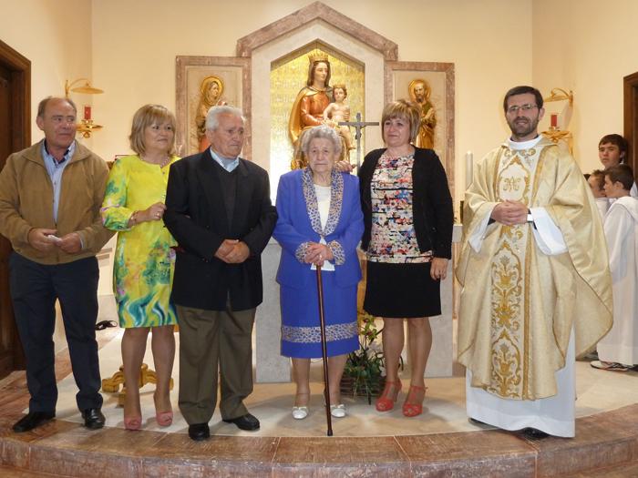 Mecerreyes, Romería Virgen del Camino 31 de Mayo de 2014. 60 años de casados Tori y Maria
