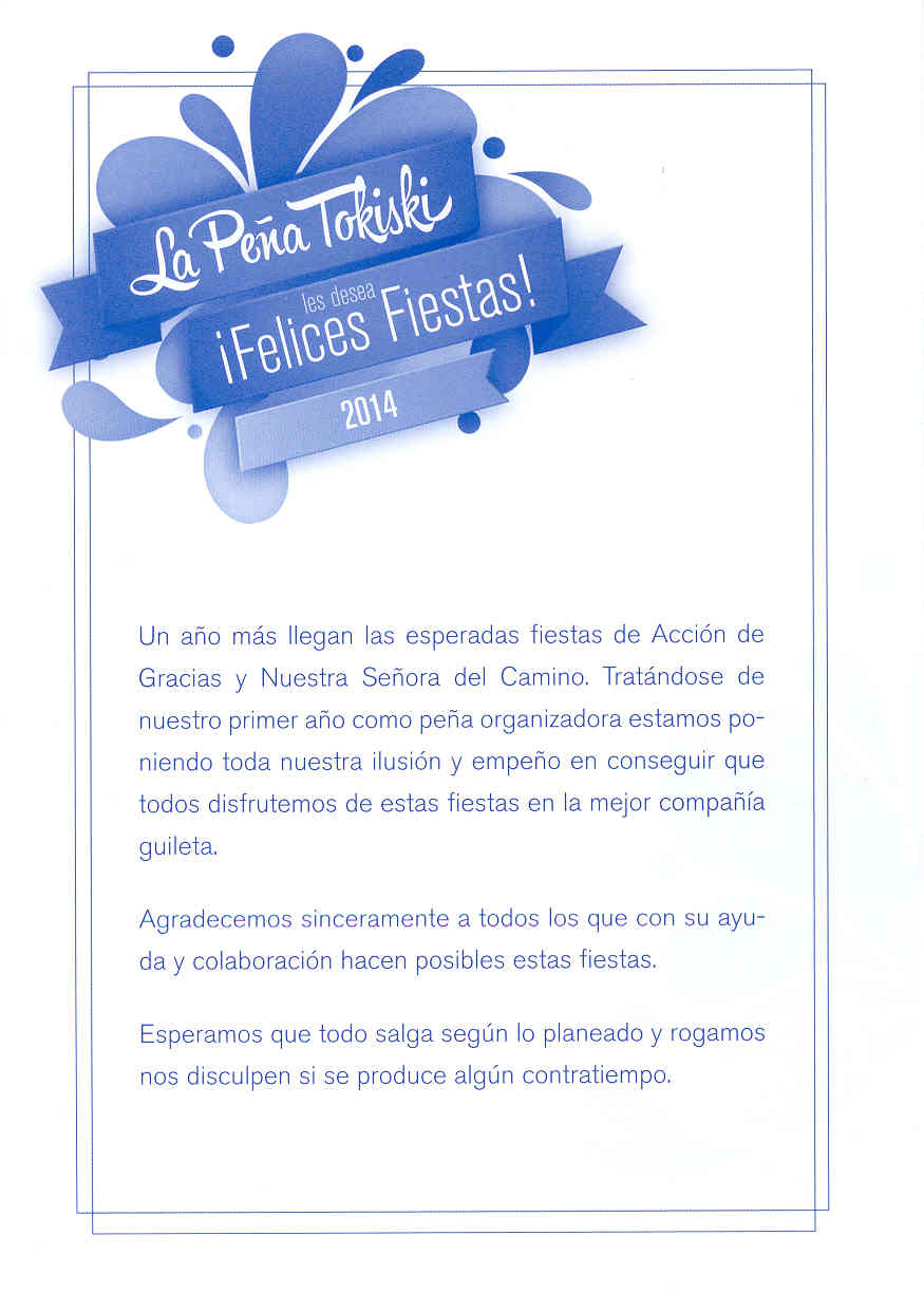 Mecerreyes, Programa Fiestas 27 a 31-08-2014 b