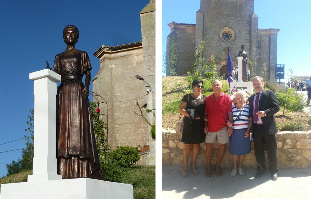 Ángel Gil (Mecerreyes), Escultura inaugurada en Hontoria de la Cantera, el 29-08-2014