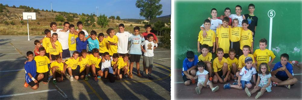 Equipo de Mecerreyes, CF en Santo Domingo de Silos y Quintanilla del Agua, agosto 2014