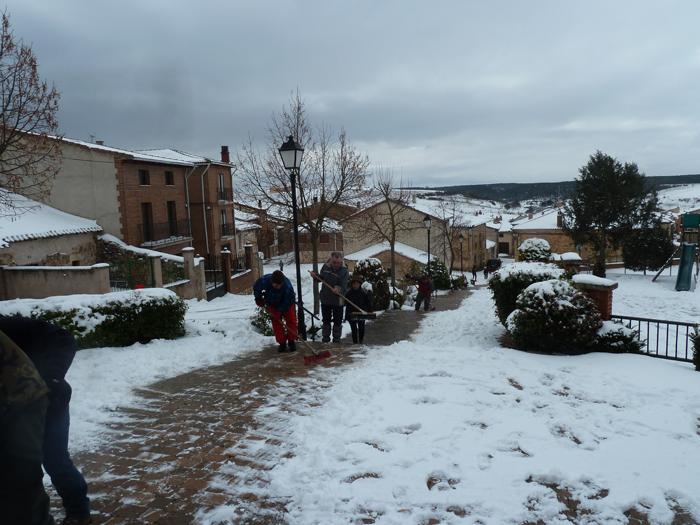 Nieve en Mecerreyes. 7 de febrero de 2015