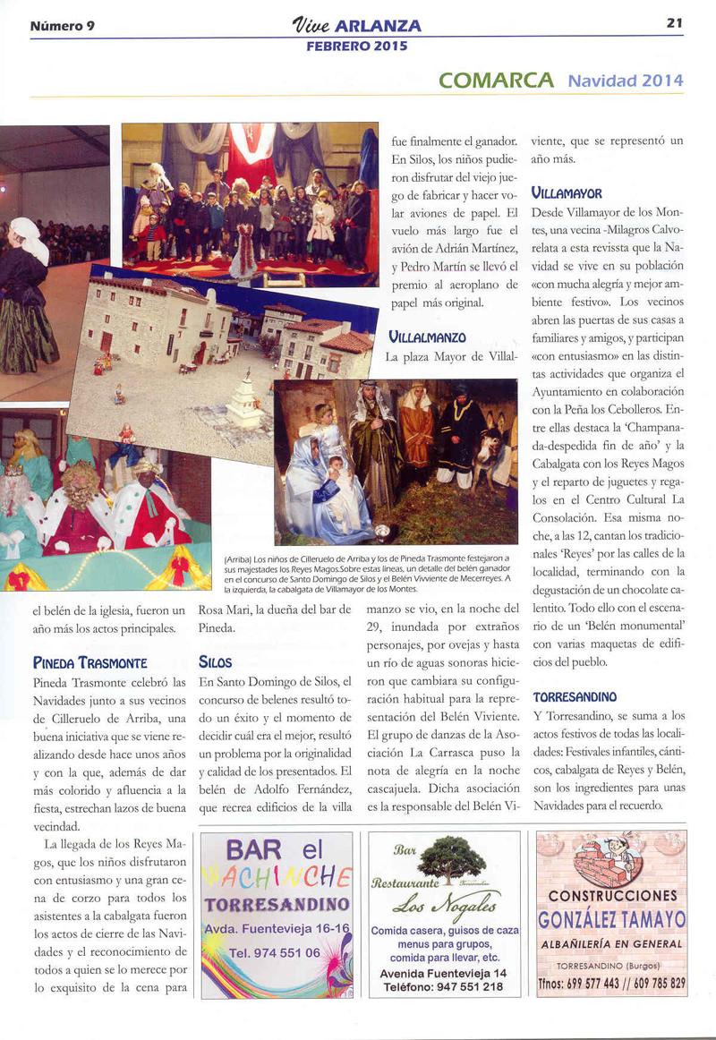 Vive Arlanza num 9-2015.    Navidad para el recuerdo.