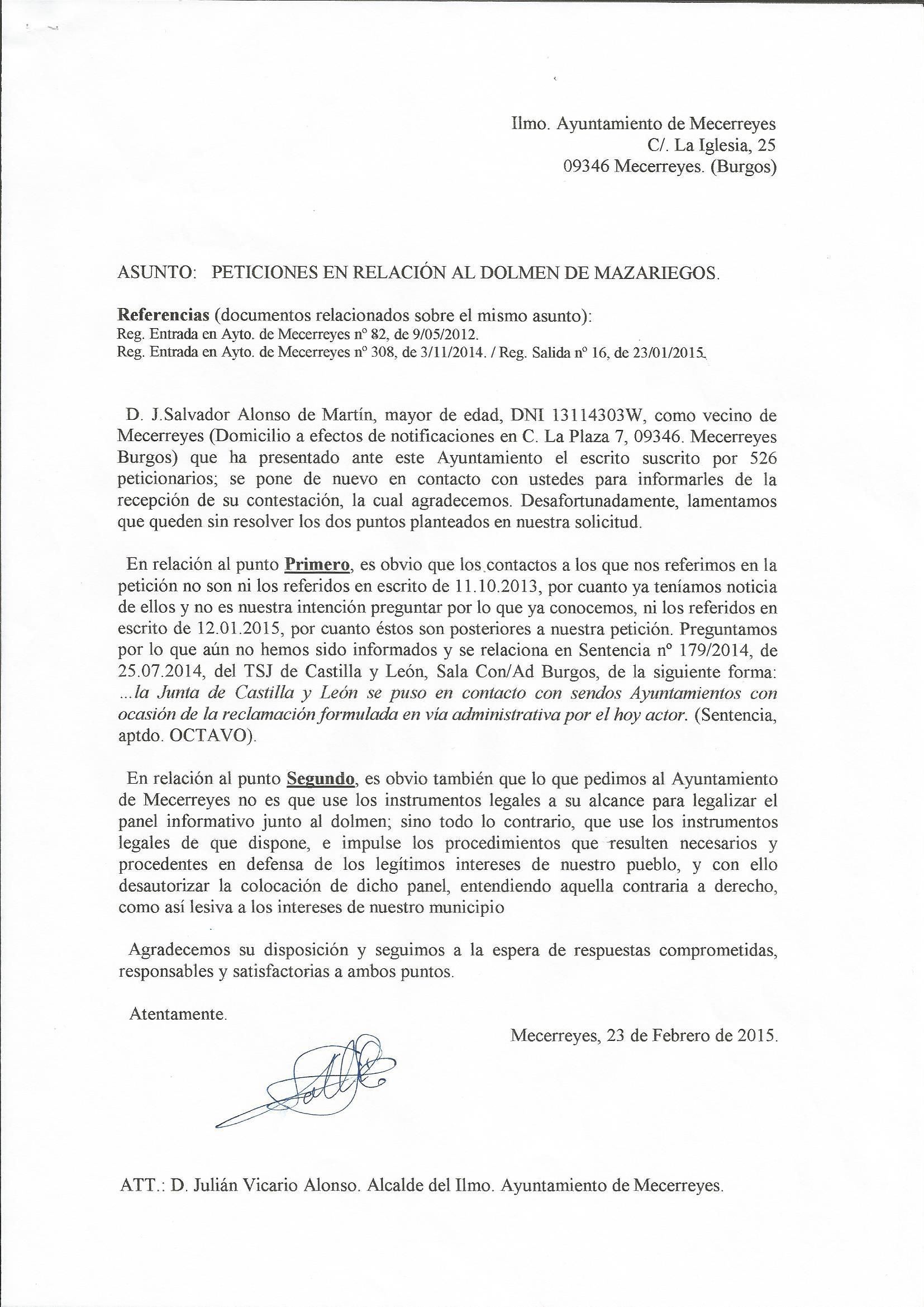 Respuesta al Ayuntamiento 23.02.15