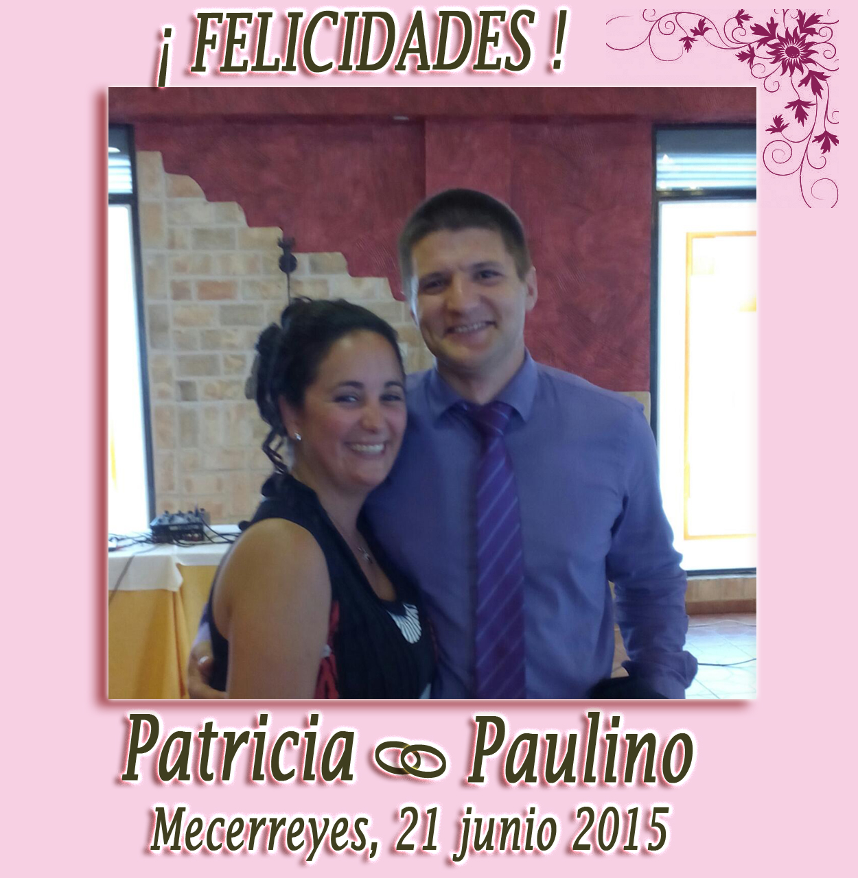 Boda Patricia y Paulino, Mecerreyes 21 de junio de 2015