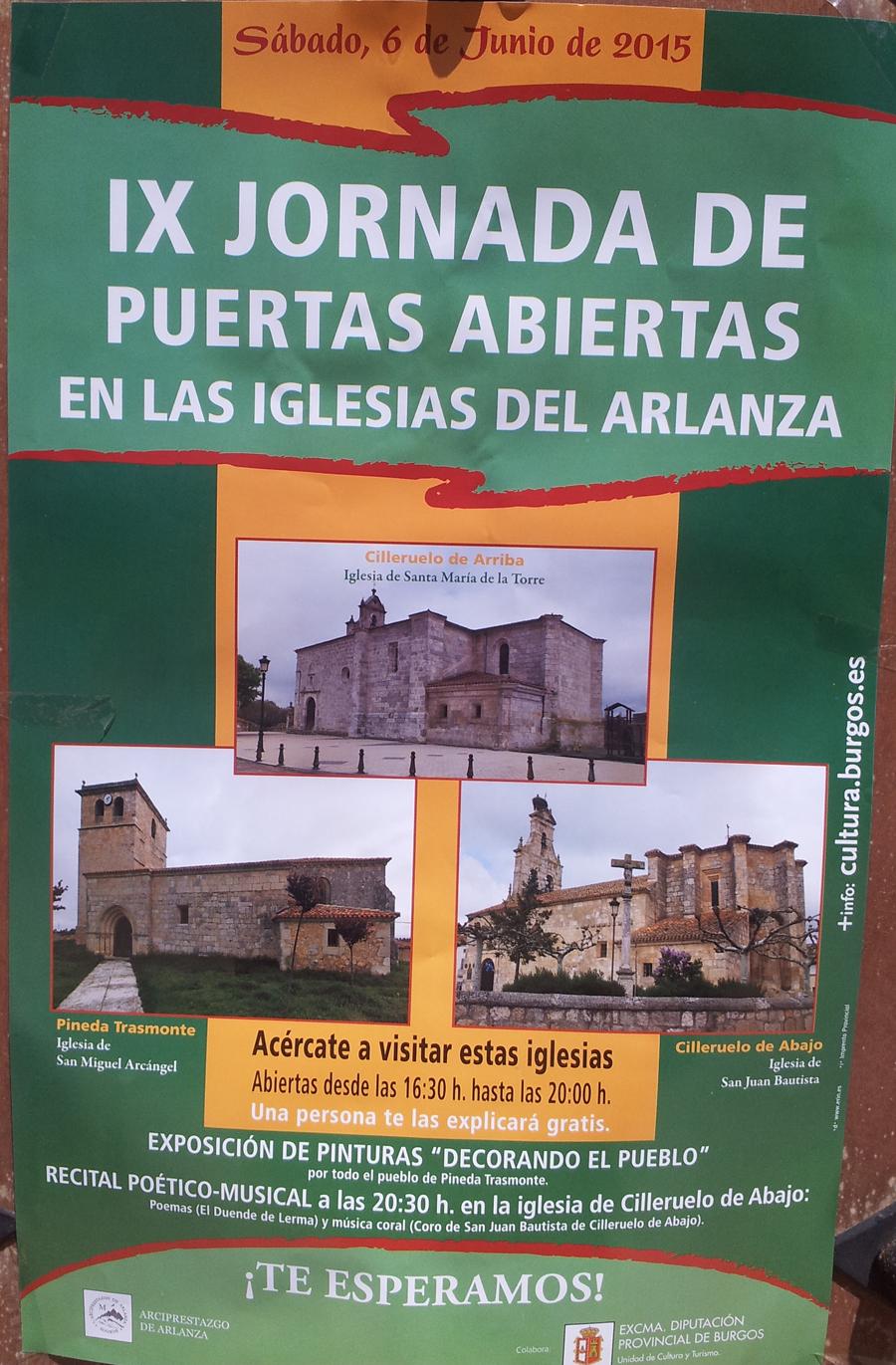Jornada de Puertas Abiertas Iglesias del Arlanza 2015