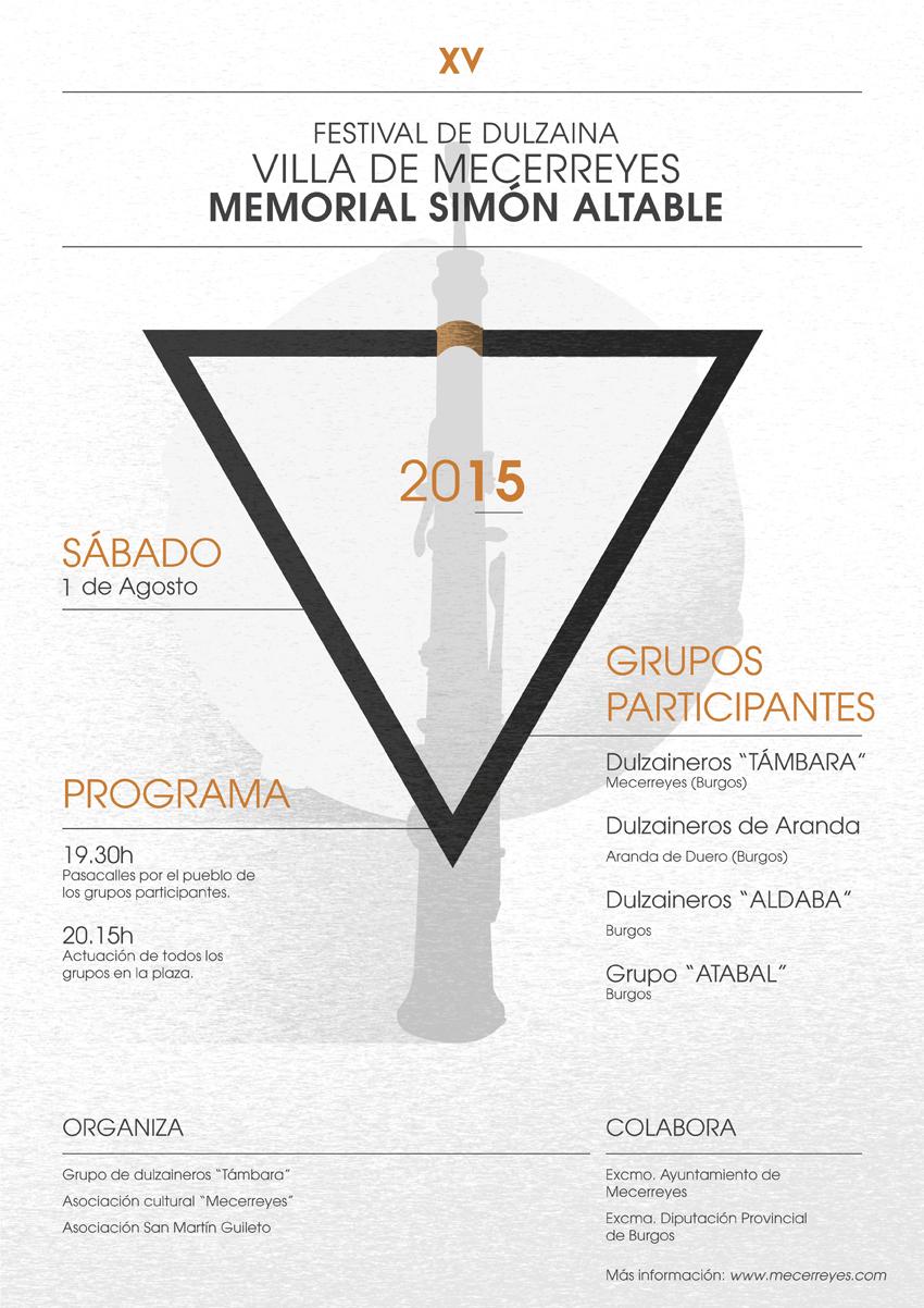 Mecerreyes, Cartel Dulzaineros 2015 - Diseño Dani Portal