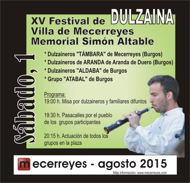 Mecerreyes, Agosto Cultural 2015, Festival de Dulzaina
