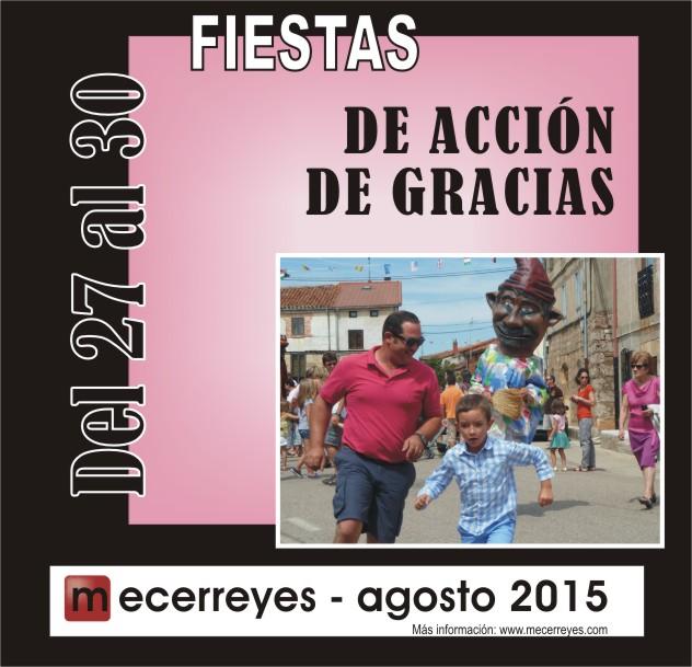 Mecerreyes, Agosto Cultural 2015 Fiestas Acción de Gracias