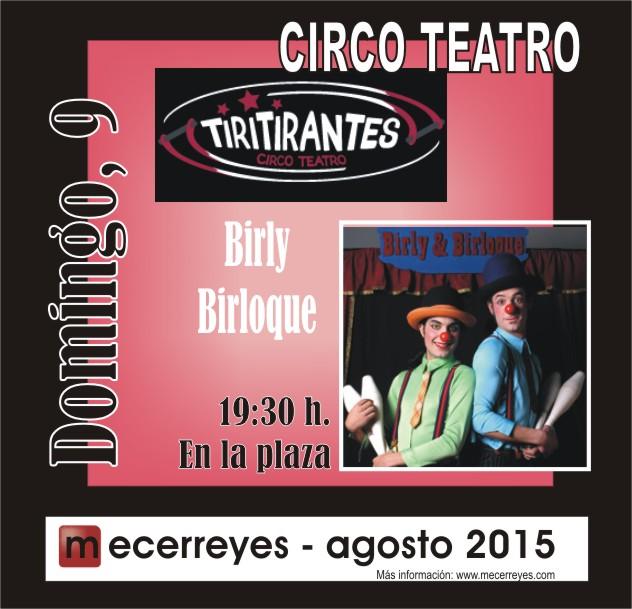 Mecerreyes, Agosto Cultural 2015, Tiritirantes con Borly&Birloque