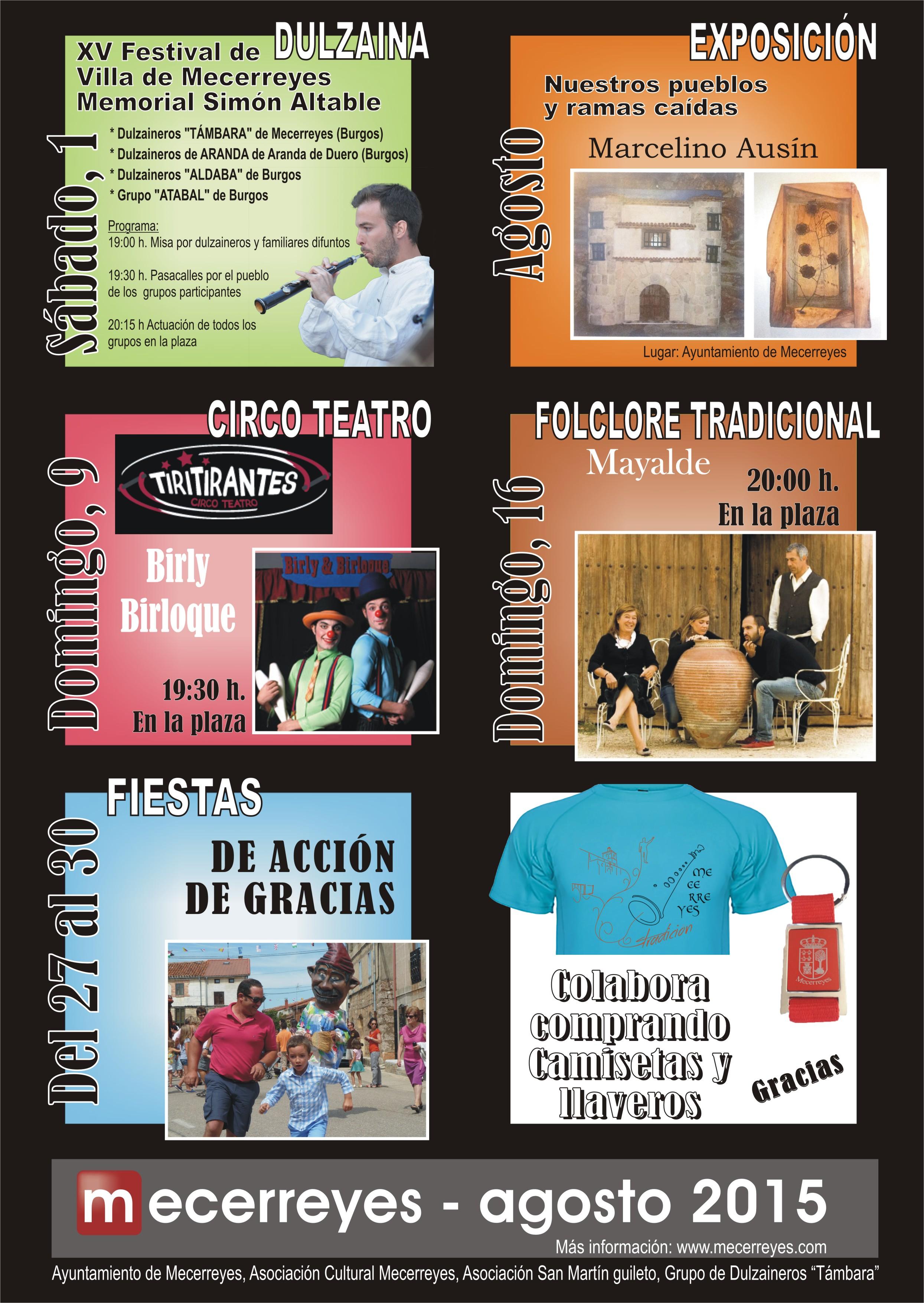 Mecerreyes, Cartel Agosto Cultural 2015