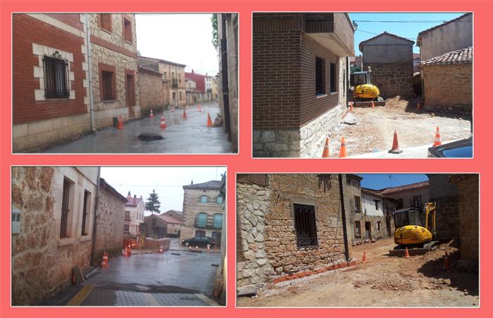 Obras calles, Mecerreyes junio 2015