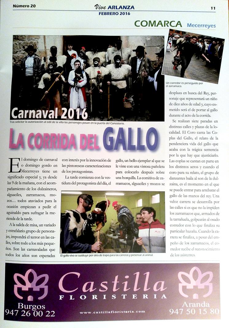 Vive Arlanza, Febrero 2016, La Corrida del Gallo de Mecerreyes