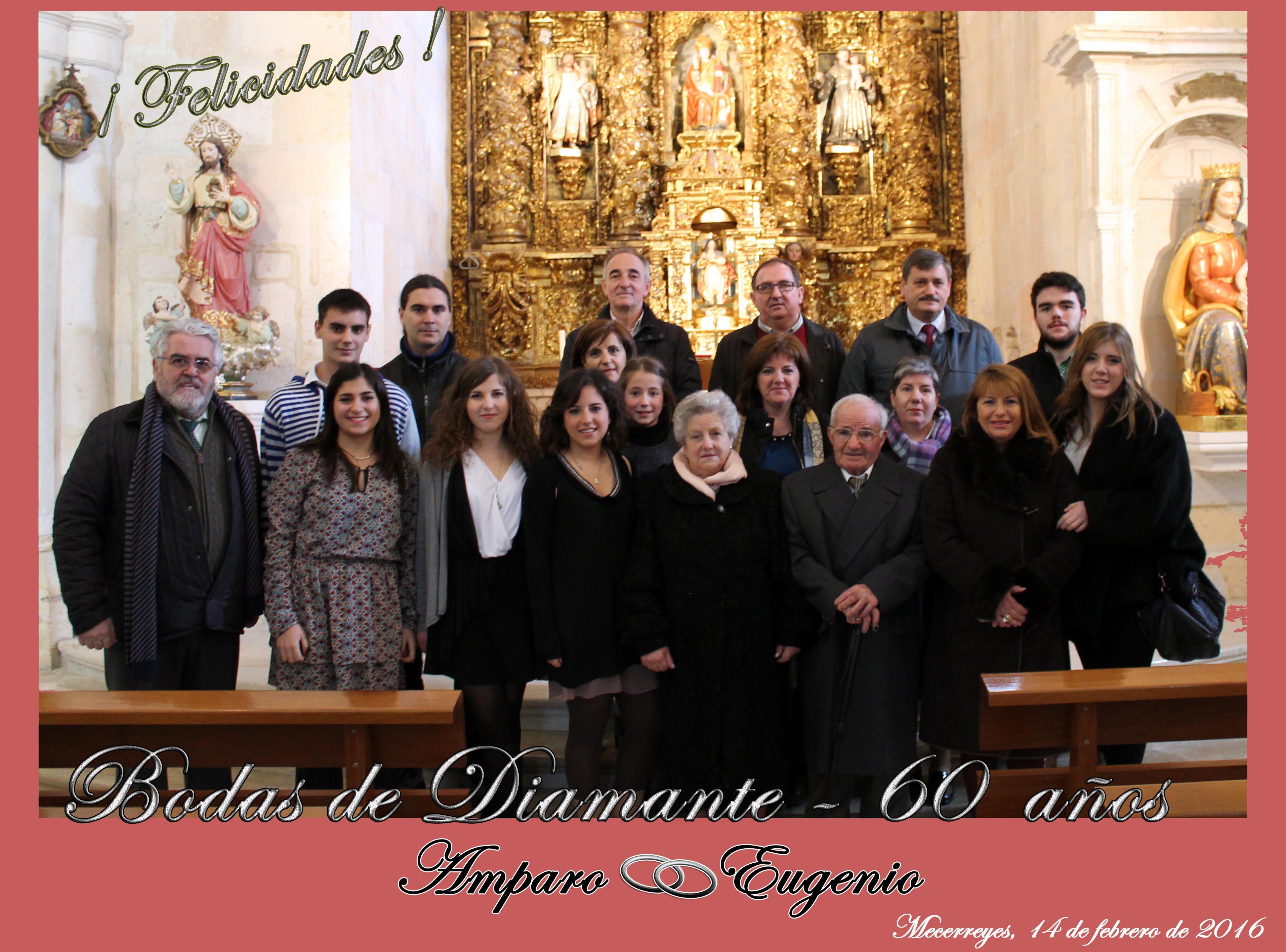 Bodas de Diamante, Amparo y Eugenio, Mecerreyes 14-02-2016