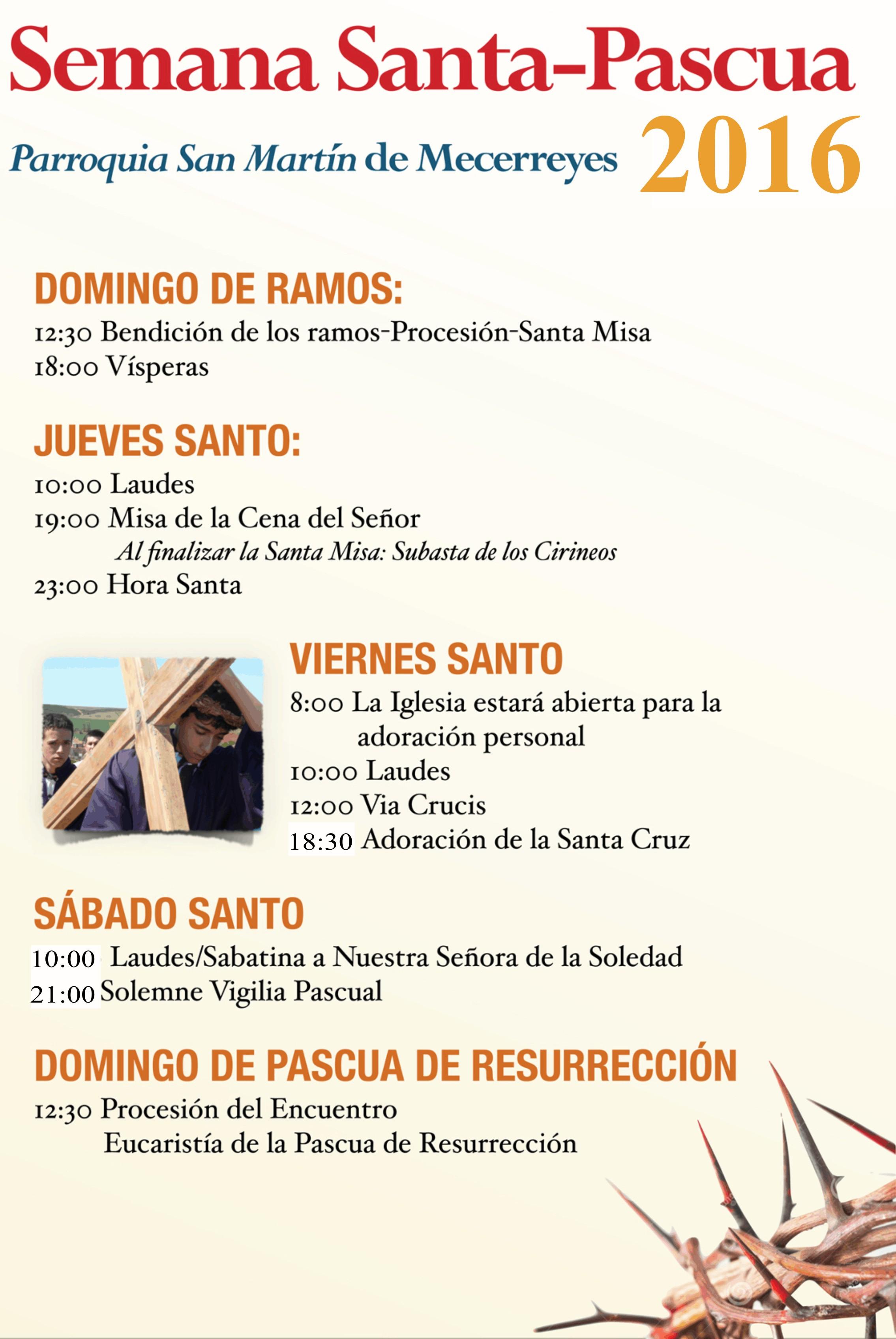 Cartel Semana Santa 2016, Mecerreyes