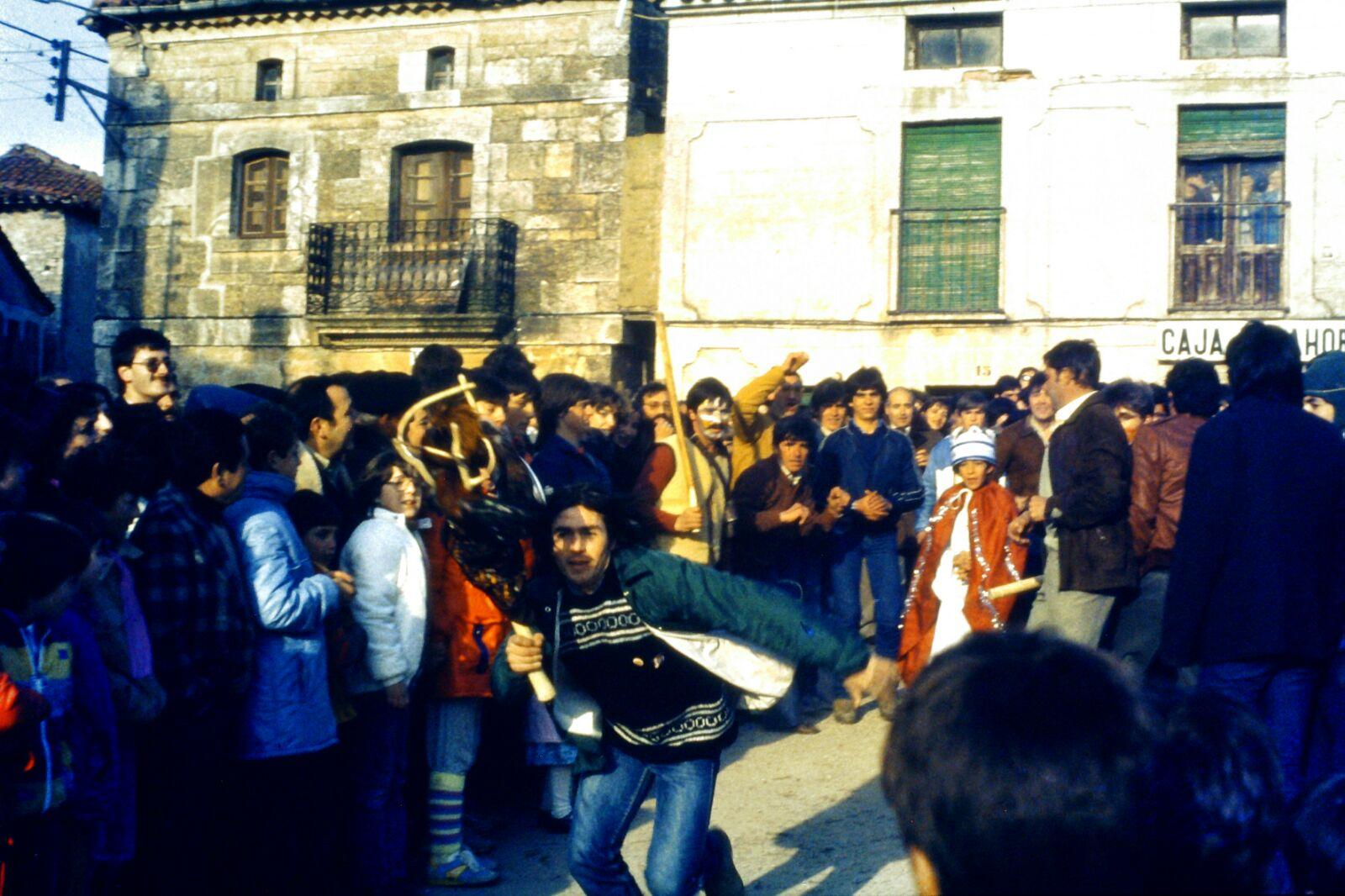 Corrida del Gallo de Carnaval, Mecerreyes 1986. Foto Fernando Alonso