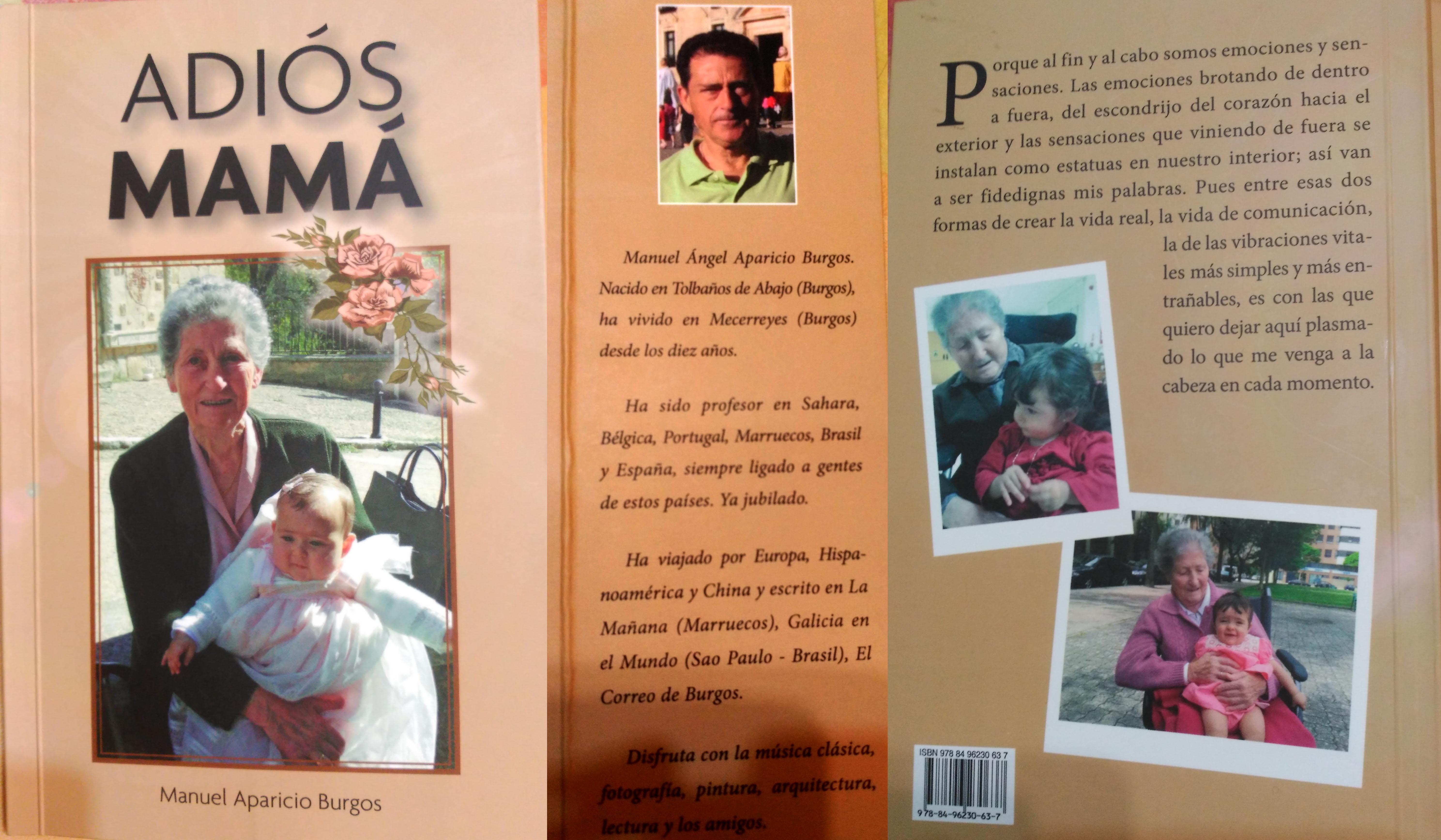 Libro, Adiós Mamá por Manuel Aparicio Burgos (Mecerreyes)
