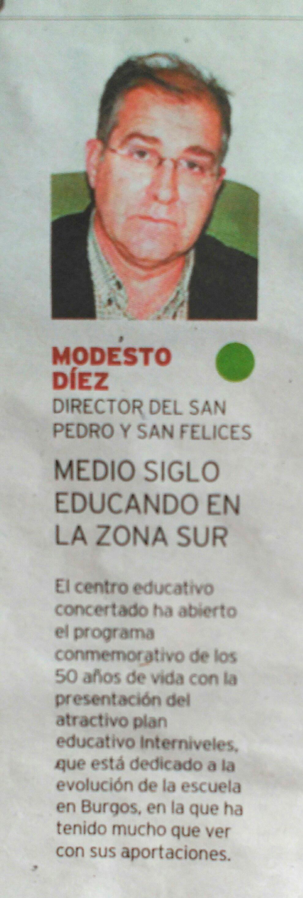 Modesto Diez Blanco, Diario de Burgos 22 abril de 2016