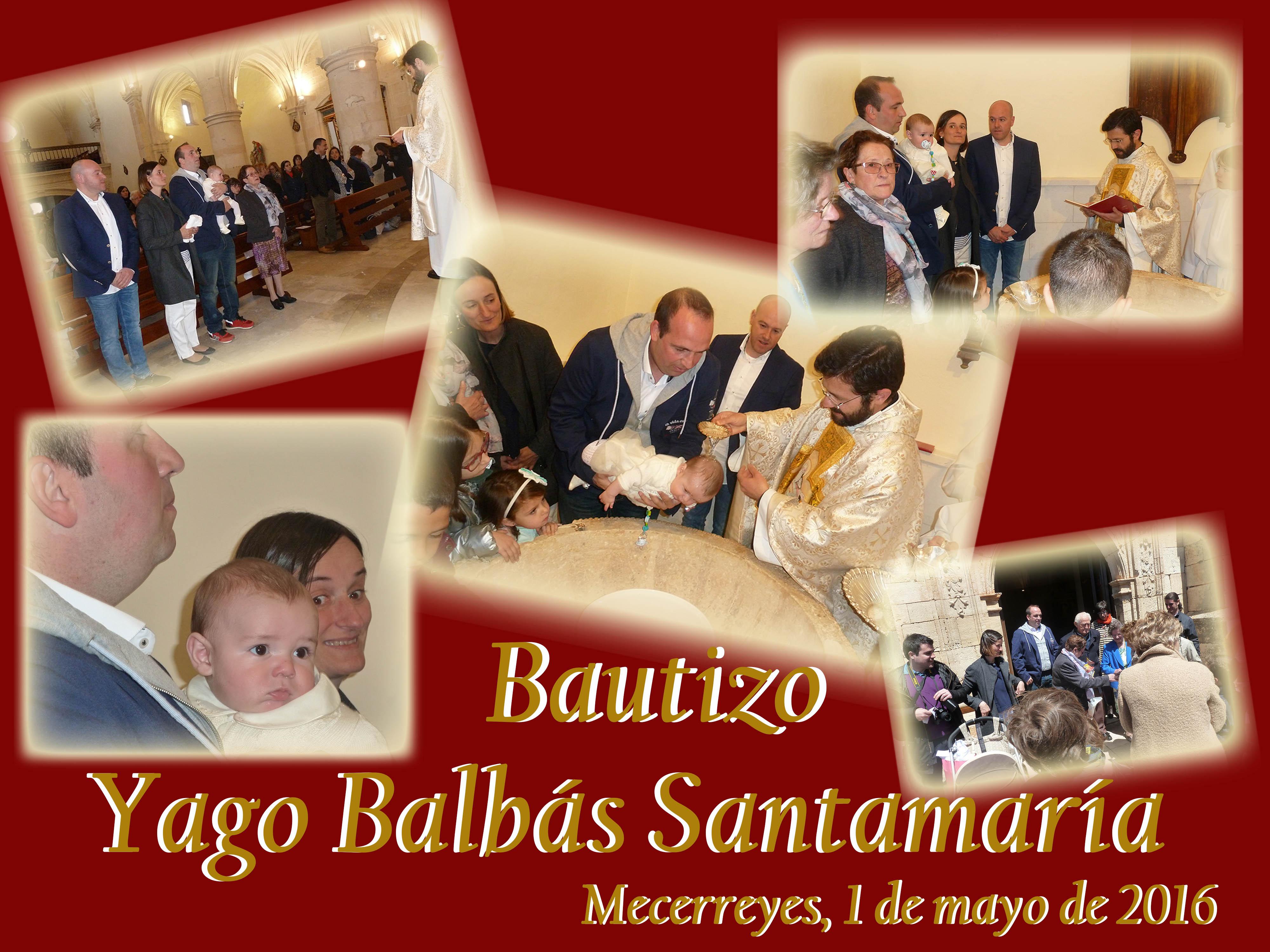 Bautizo Yago Balbás Santamaría, Mecerreyes 1 de mayo de 2016