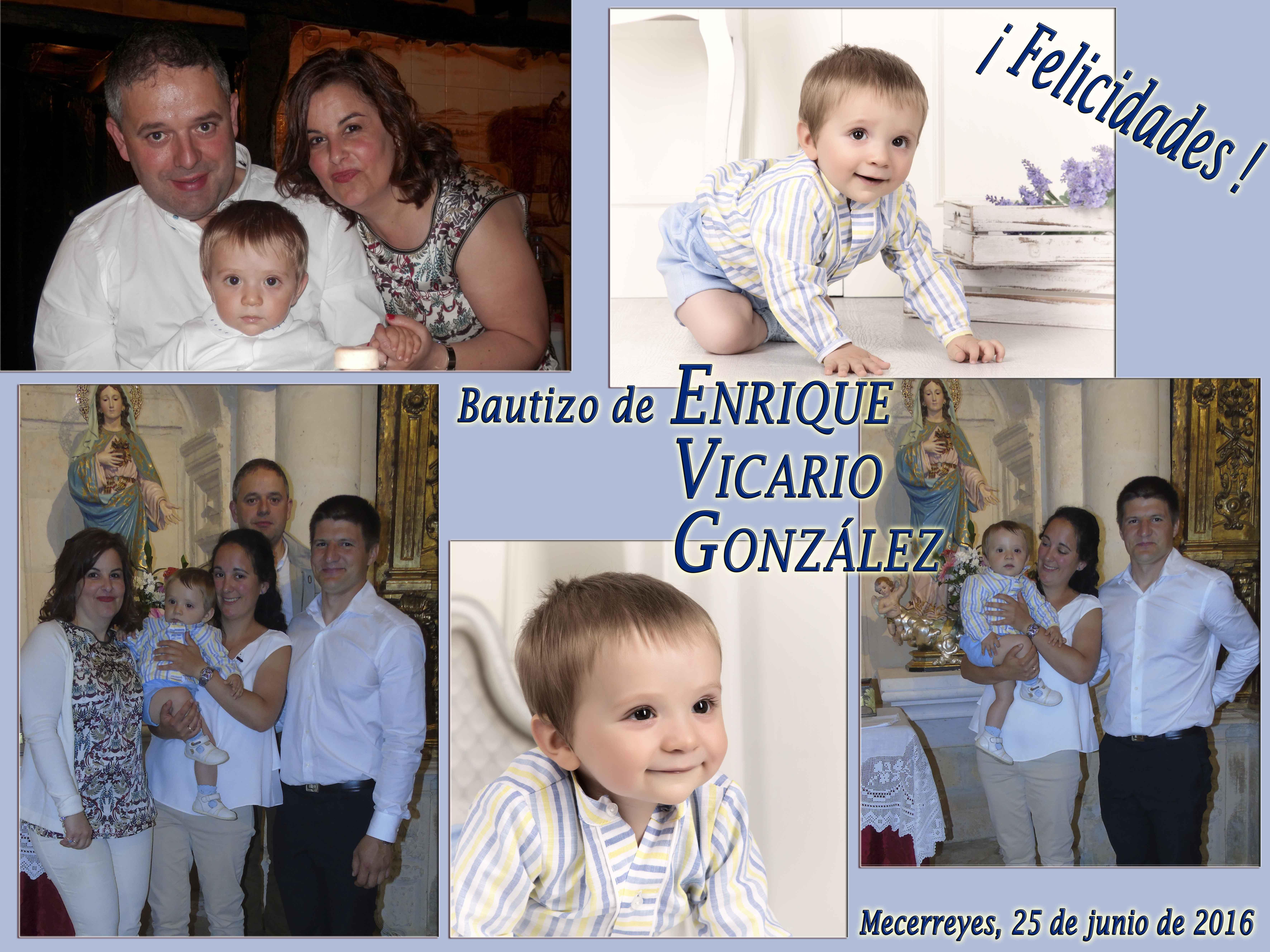 Bautizo de Enrique Vicario González, Mecerreyes 25-06-2016