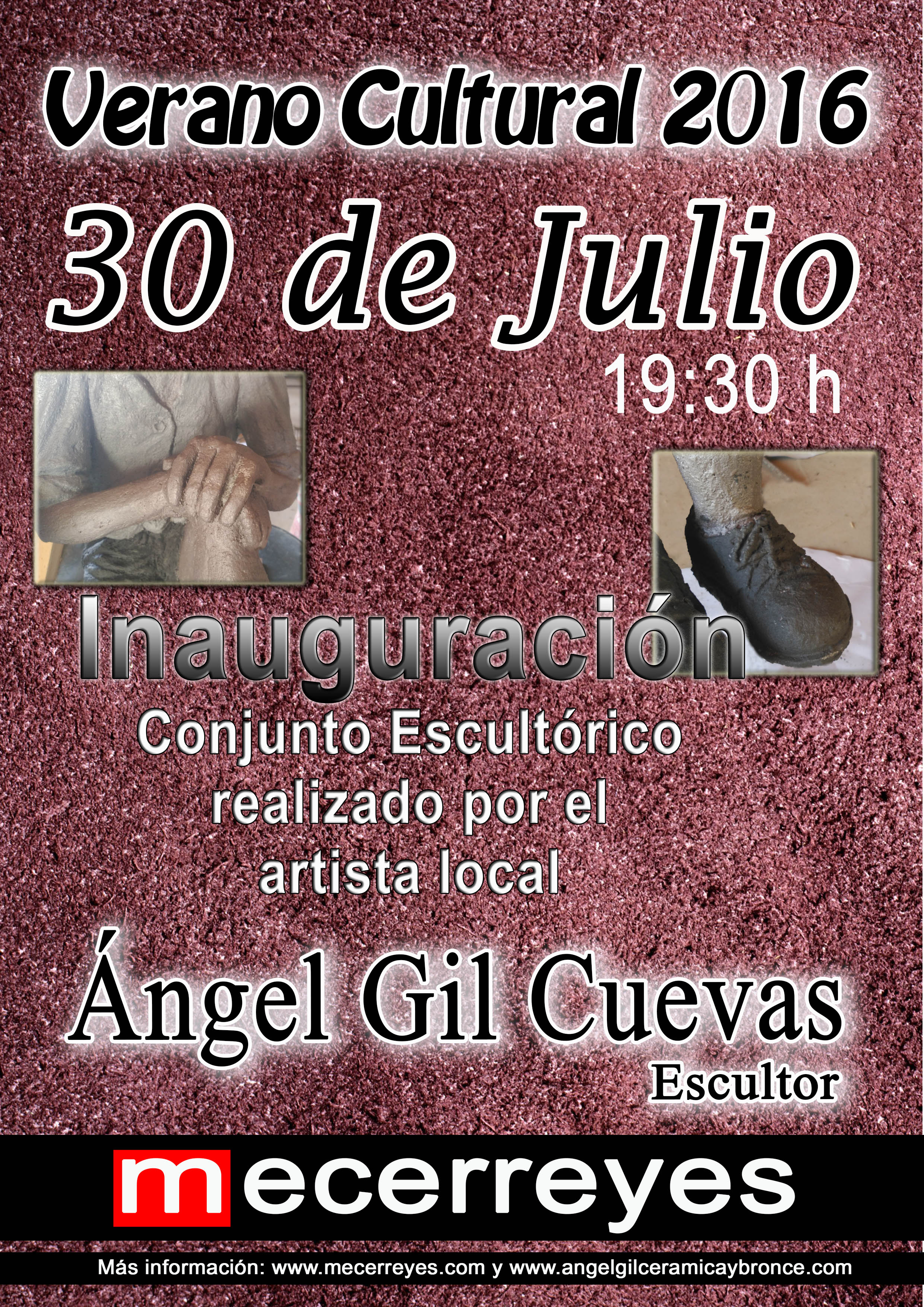 Mecerreyes, Verano Cultural 2016-Angel Gil, esculturas niños