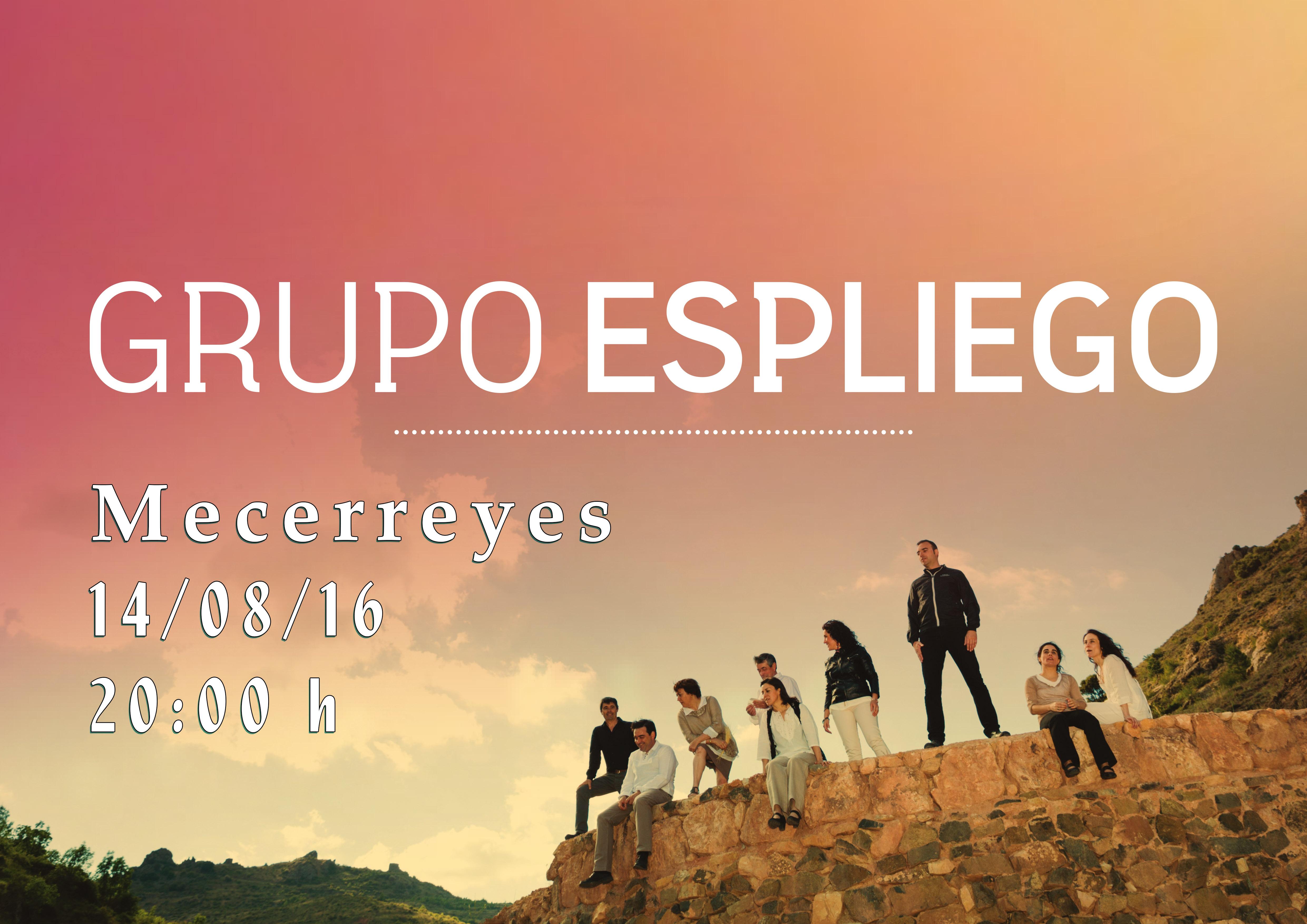 Mecerreyes, Verano Cultural 2016-Cartel Grupo Espliego