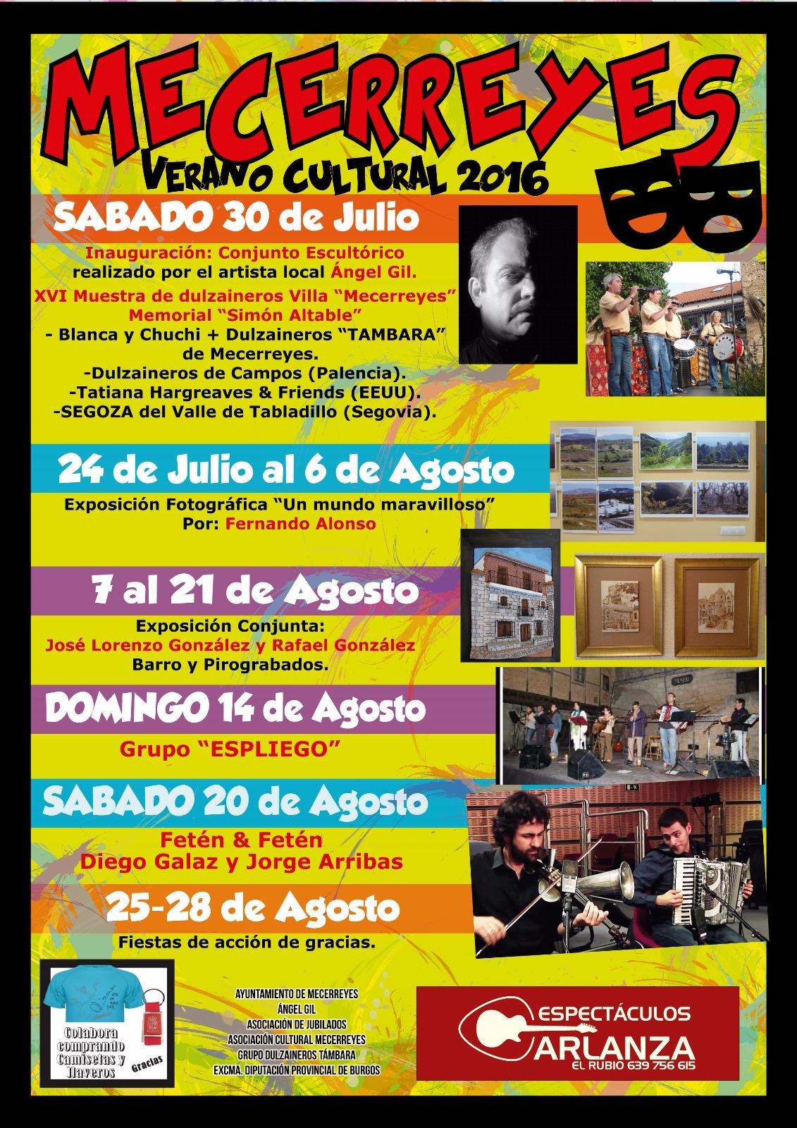 Mecerreyes, Verano Cultural 2016