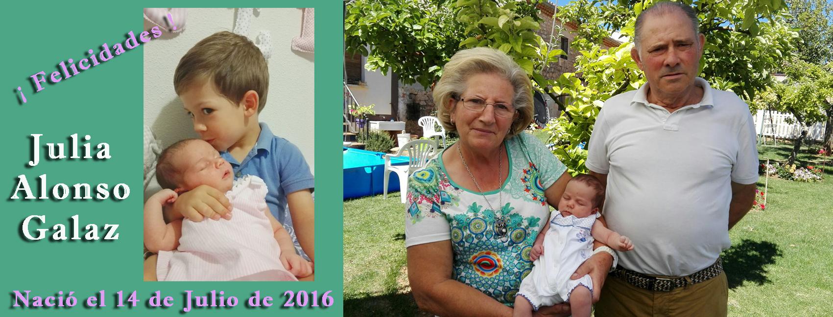 Nacimiento de Julia Alonso Galaz, el 14-07-2016 (Mecerreyes)