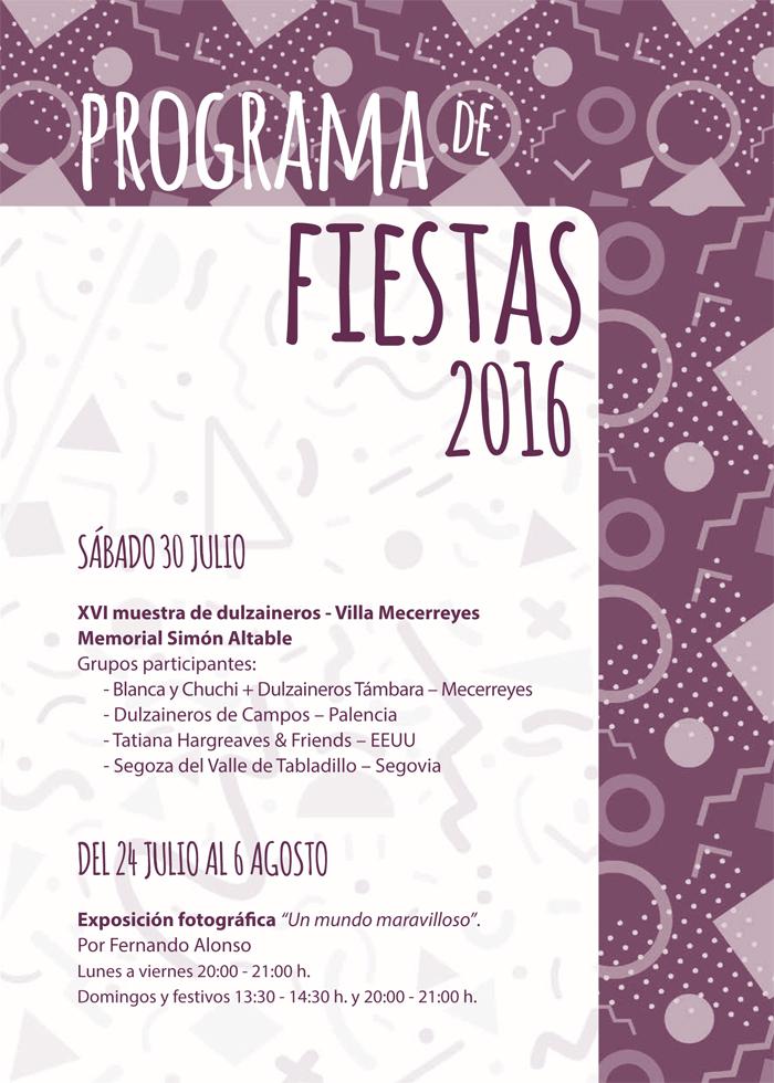 Programa de Fiestas, Mecerreyes 2016 (8)