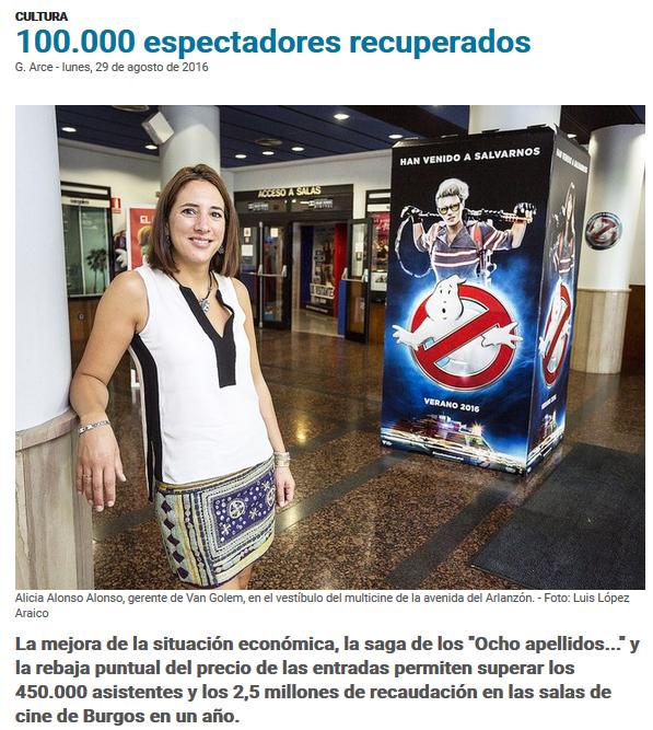 Diario de Burgos 29-08-16 - Alicia Alonso (Mecerreyes)