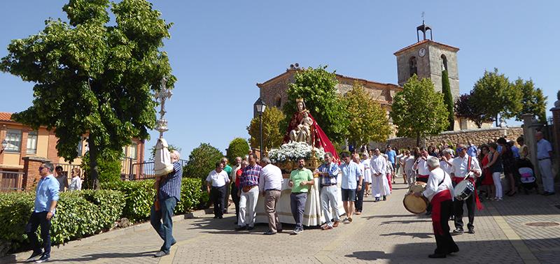 Procesión Virgen del Camino, Mecerreyes 2016