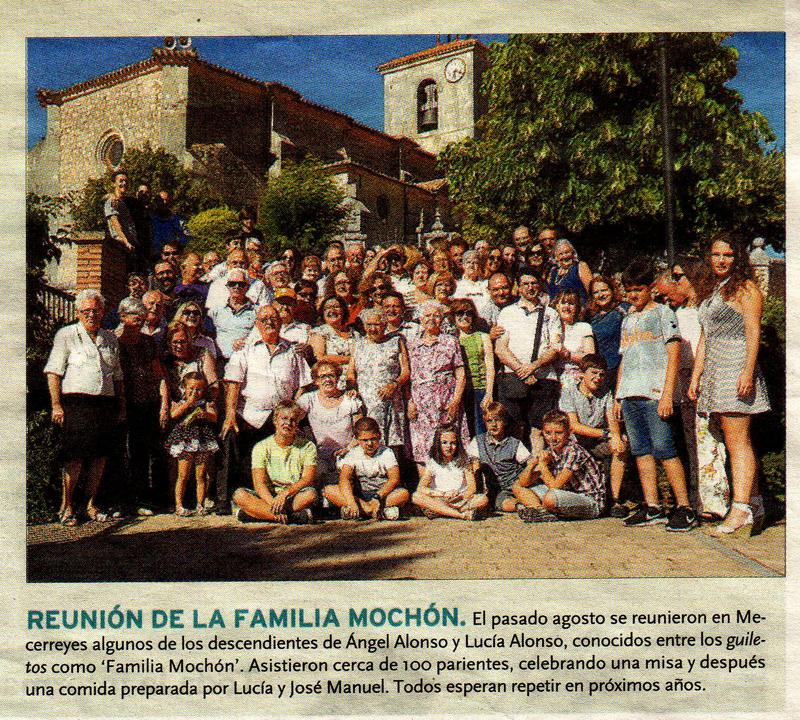 Reunión de la familia Mochón - Mecerreyes 13-08-2016 - Diario de Burgos