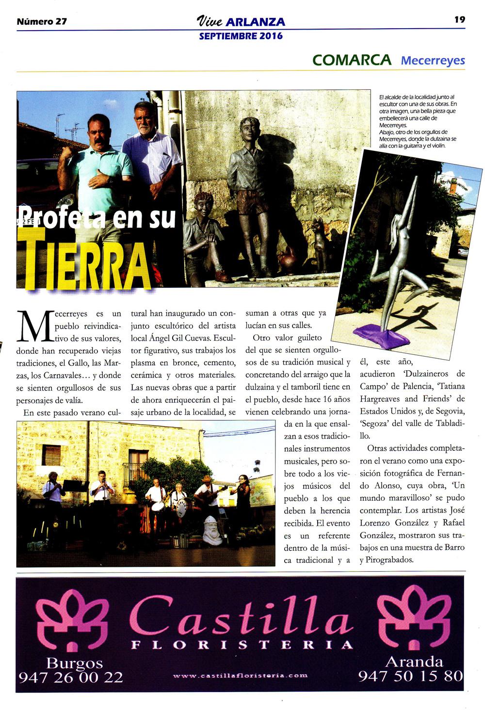 Revista Vive Arlanza - Ángel Gil, Profeta en su tierra, Mecerreyes