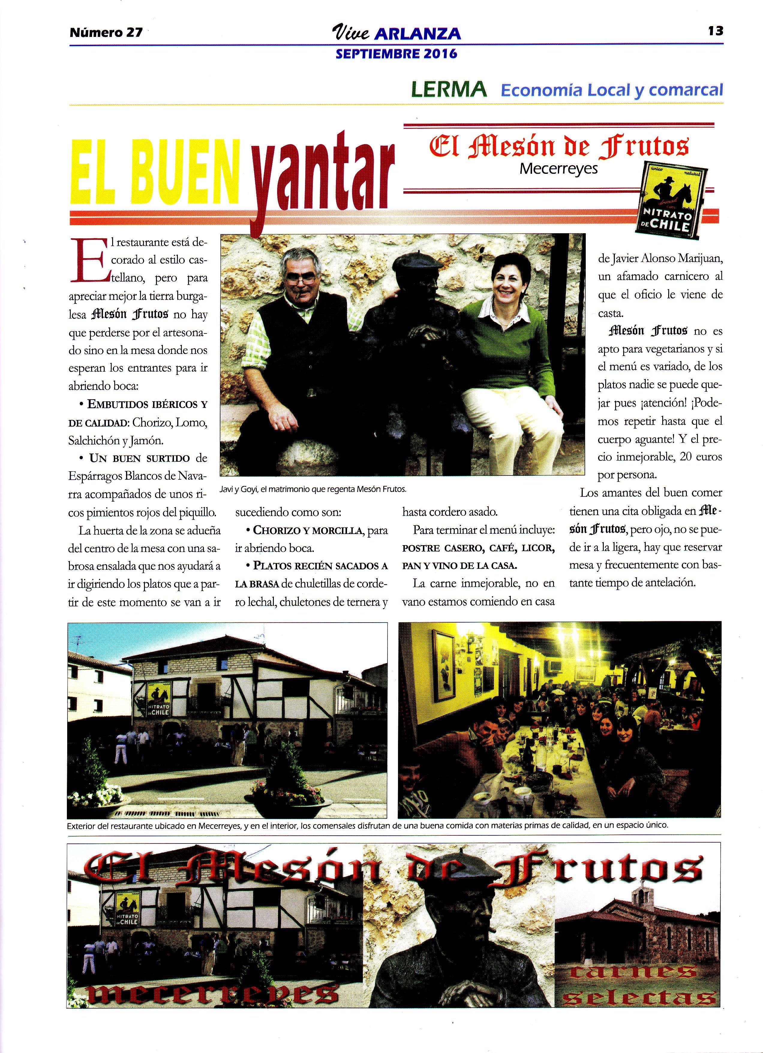 Revista Vive Arlanza - El mesón de Frutos, Mecerreyes