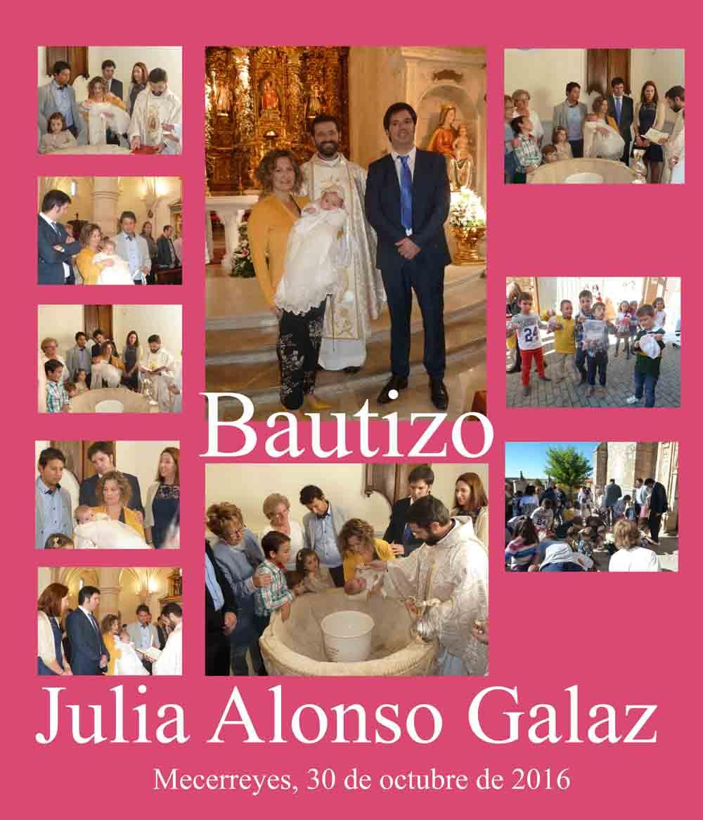 Bautizo de Julia Alonso Galaz, Mecerreyes 30 oct 16
