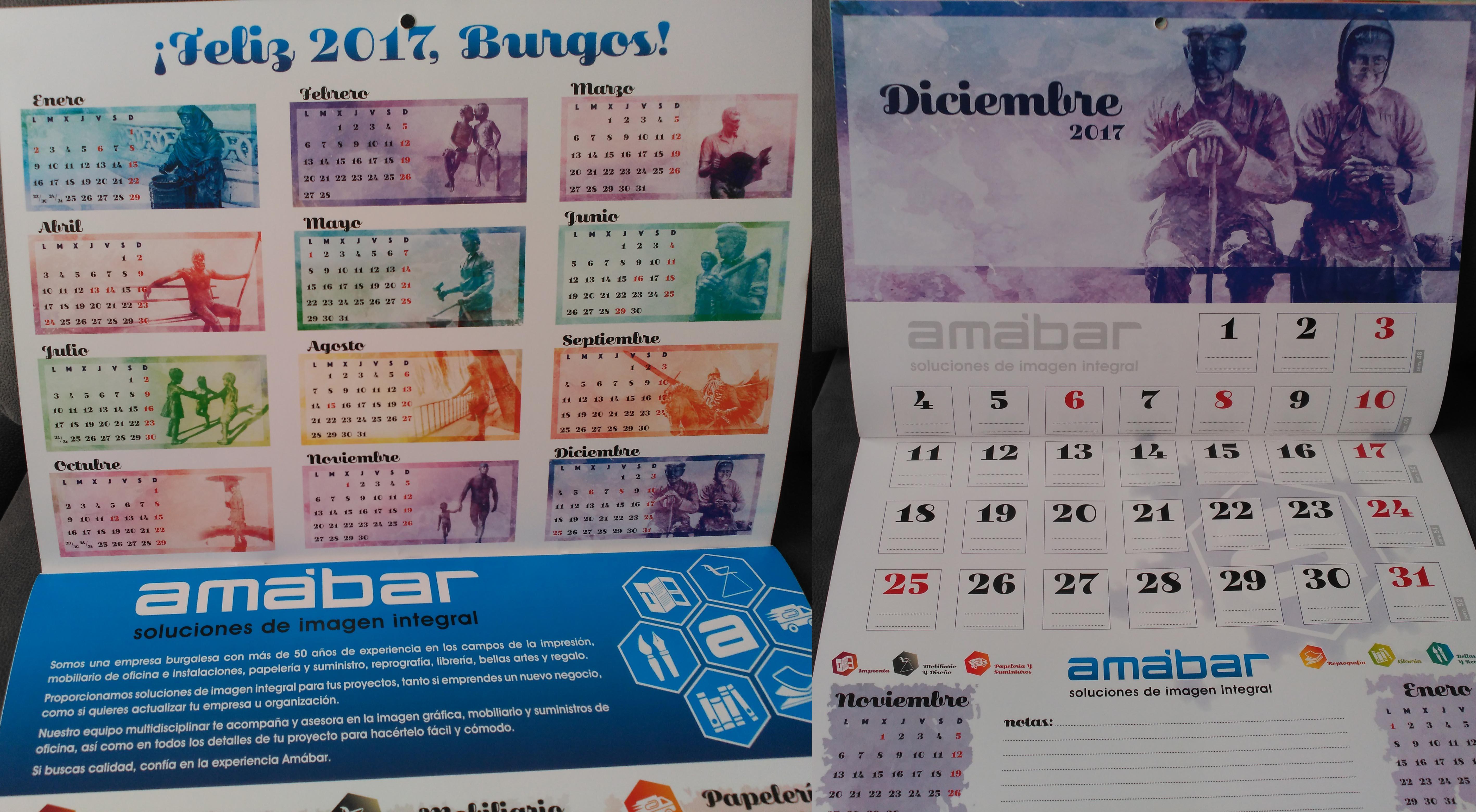 Calendario Amábar 2017