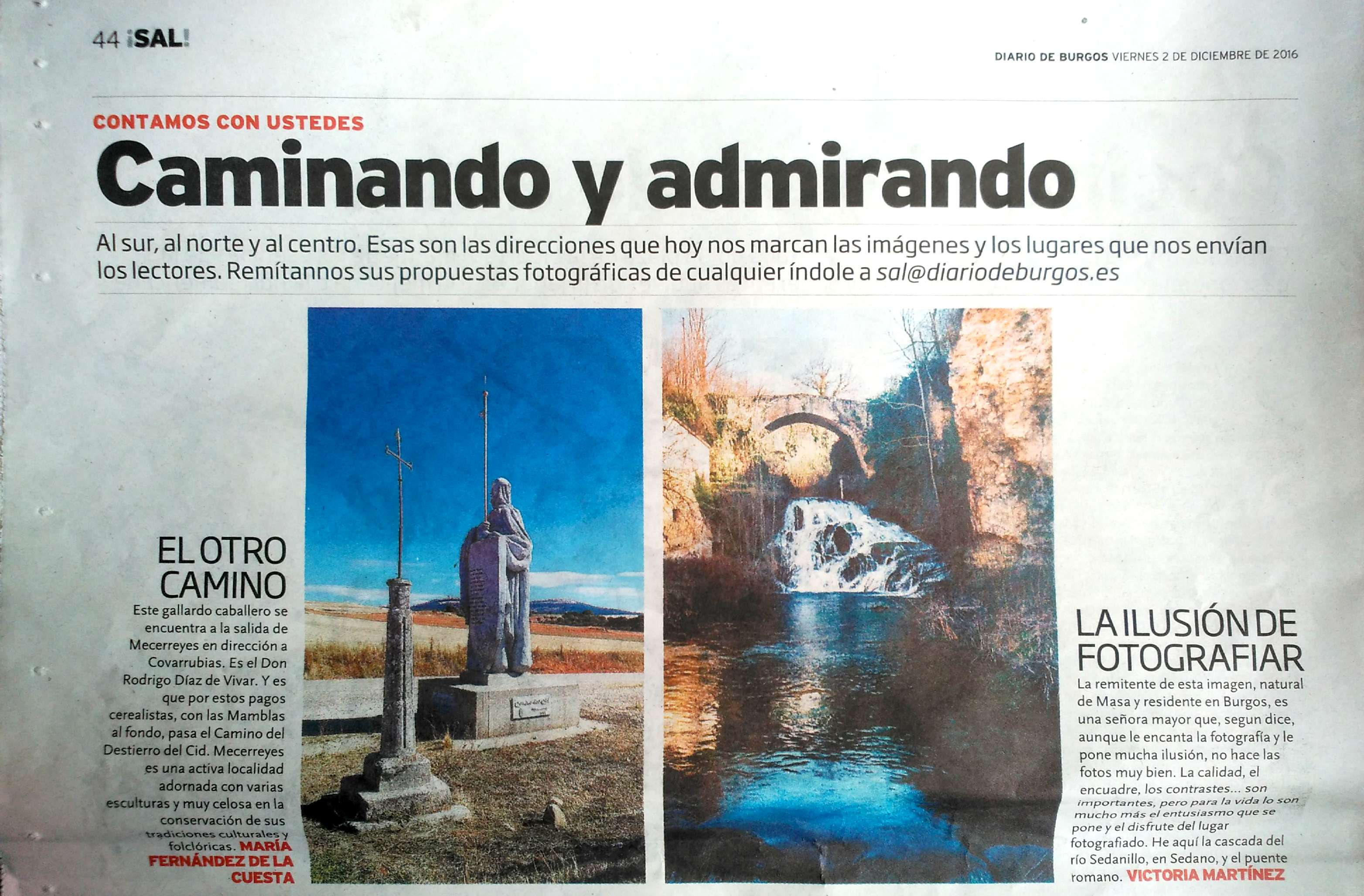 Diario de Burgos, 2-12-2016