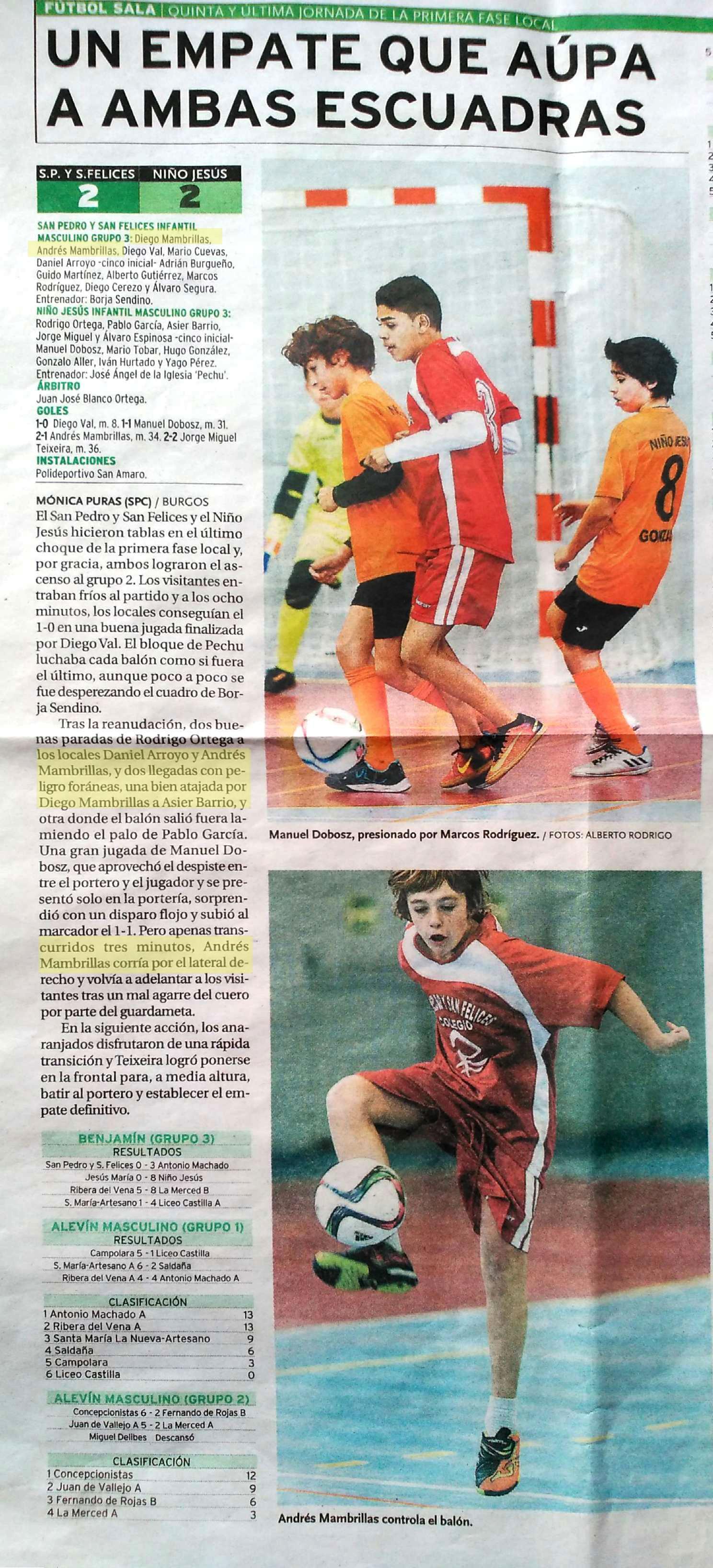 Fútbol Sala - Diario de Burgos 3-12-2016