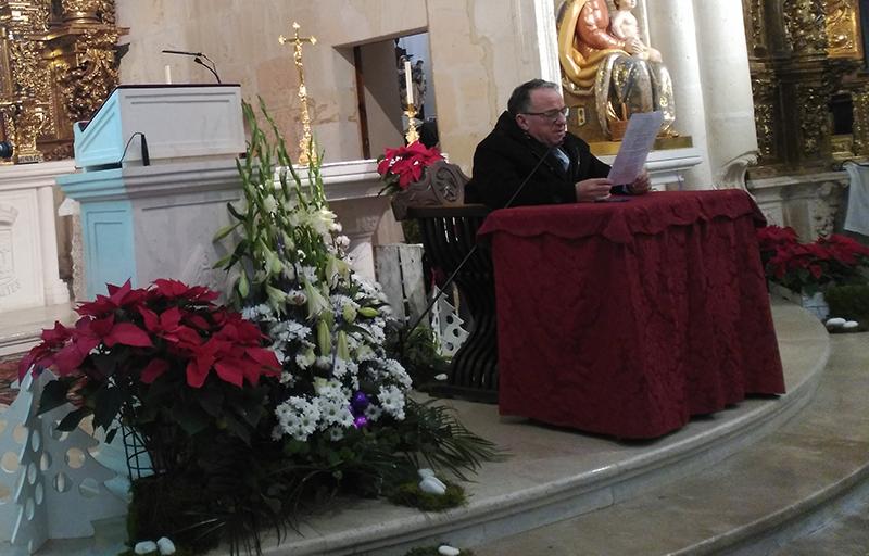Janete, pregonero de la Navidad en Mecerreyes, 23-12-16