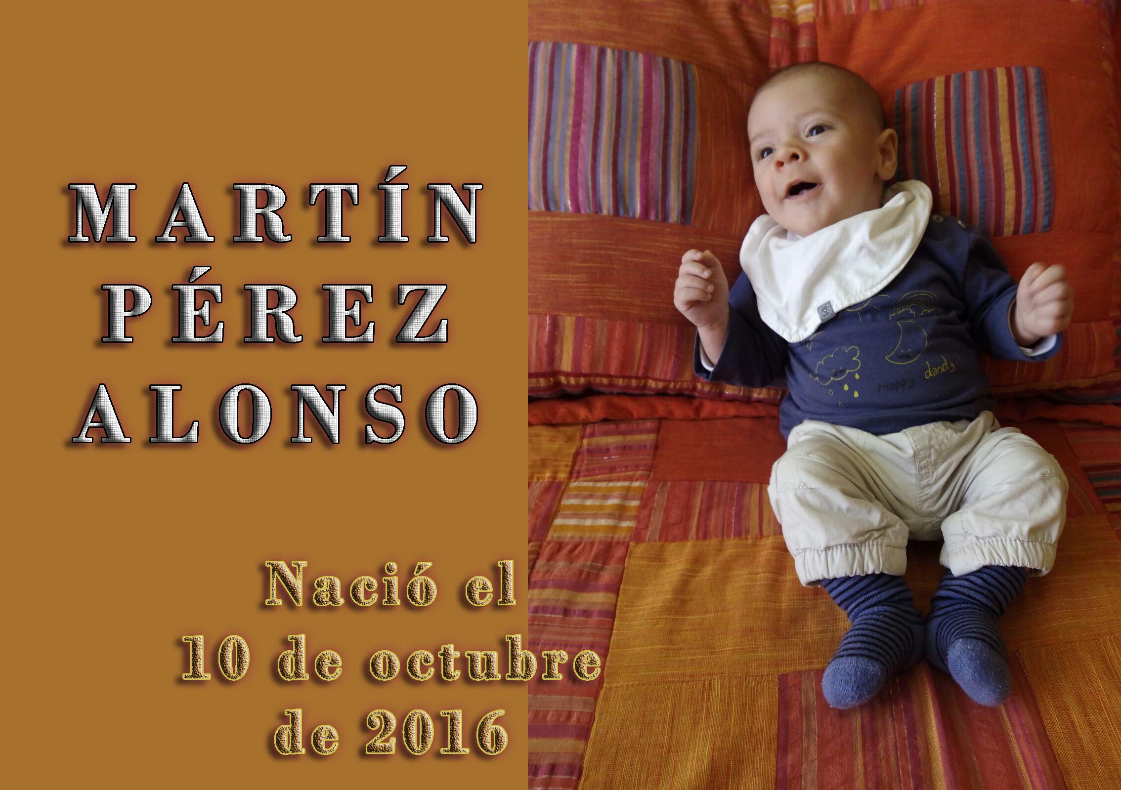 Nacimiento de Martín Pérez Alonso, el 15-10-2016
